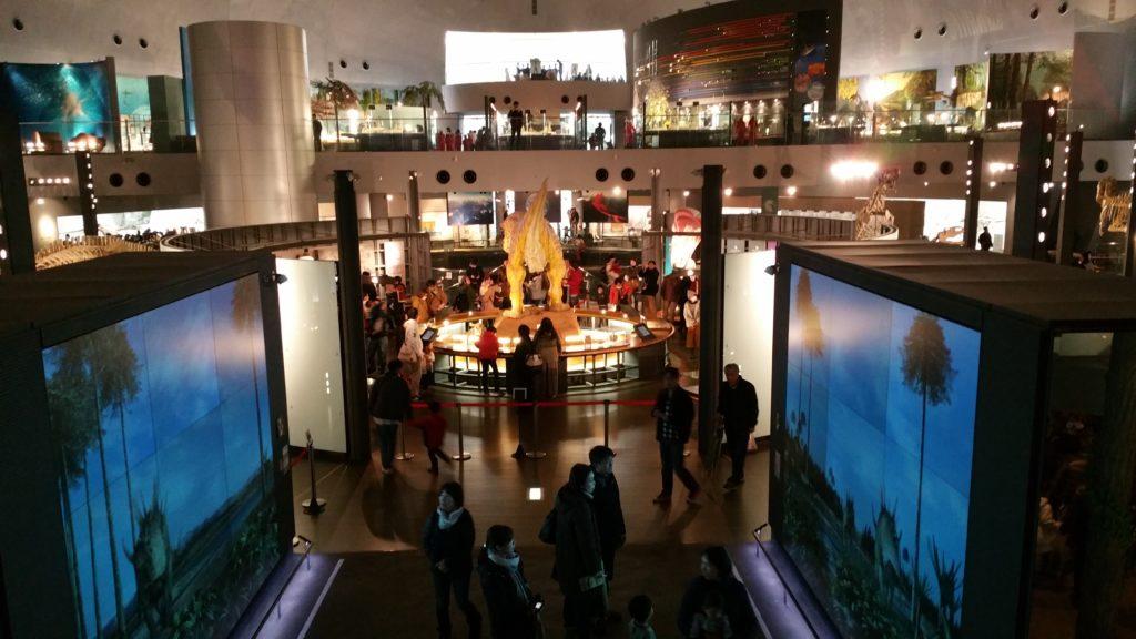 福井県立恐竜博物館ダブルモニター