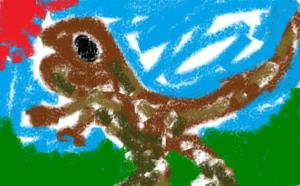 子供恐竜絵