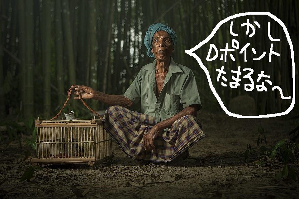 Dポイント貯める老人